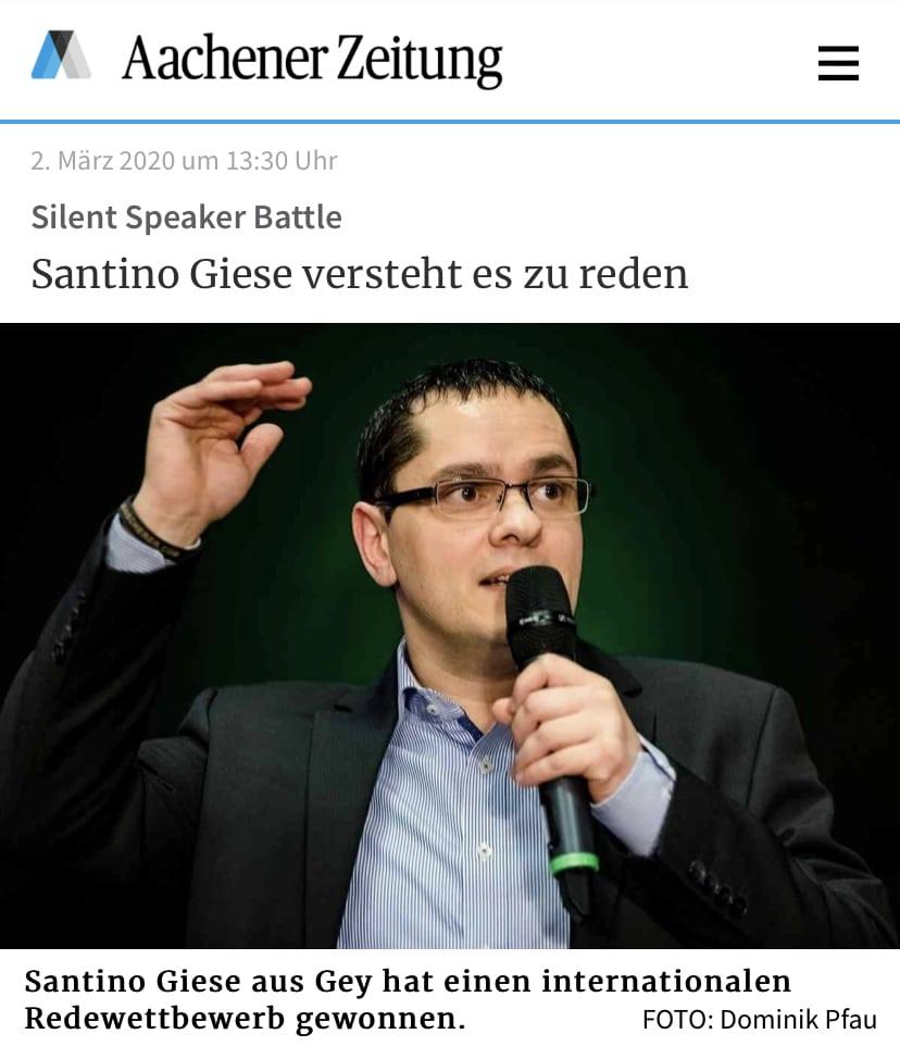 Aachener Zeitung - Bericht Santino Giese